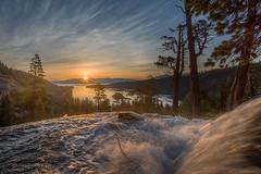 Sunrise @ south Lake Tahoe (FollowingNature (Yao Liu)) Tags: emeraldbay sunrise followingnature waterfall eaglecreek southlaketahoe ngc