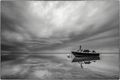 The next boat trip is coming soon (ingrid.lowis) Tags: boat bw schwarz weis monochrom sea föhr