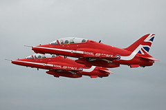 XX204 & XX278 Bae Systems Hawk T1A's Royal Air Force Red Arrows RAF Fairford RIAT 15th July 2017 (michael_hibbins) Tags: xx204 xx278 bae systems hawk t1as royal air force red arrows raf fairford riat 15th july 2017 aircraft aeroplane aviation aerospace airplane aero airshow military defence strategic tactical jet jets mil