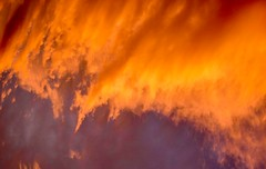 Fire in the sky. (PJD-DigiPic) Tags: pjddigipic sunset clouds nature sky orange colorful cloudsstormssunsetssunrises