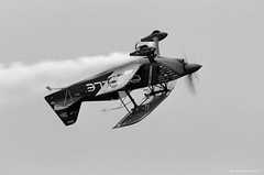 Sean D. Tucker - Team Oracle (dpsager) Tags: airshow2017 bw cleveland clevelandnationalairshow dpsagerphotography eos1v film ilfordfp4 ohio oraclechallengeriii seandtucker aircraft airplane biplane