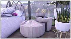 .Wooden Link Tables (Abi Latzo) Tags: zencreations homeandgarden home inside indoor interiordesign furniture decor table mesh secondlife sl shopping