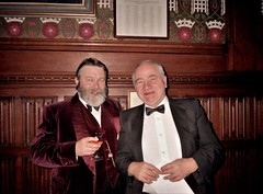 Roger Johnson & Colin Dexter (photo by Jean Upton)