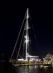 At Rest (pjpink) Tags: night boat ship dock docks waterfront sailboat boating boatinglife beaufort northcarolina nc carolina coast coastal eastcoast crystalcoast spring 2018 may pjpink 2catswithcameras