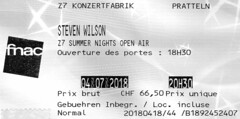 STEVEN WILSON  -  rock progressif / GB (Philippe Haumesser Photographies (+ 6000 000 view)) Tags: music billet billets ticket tickets concerticket concertickets concert concerts live groupe groupes band bands rockband rockbands rockprogressif stevenwilson 2018