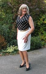 Tonisptyblous-004 (fionaxxcd) Tags: cd tg ts ladyboy drag femmeboi mtf m2f transvestite tranny trannie crossdresser crossdressing xdresser xdressing stilettos whiteskirt curls rednails tights bust