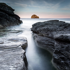 Gull Rock Sunrise (Nathan J Hammonds) Tags: gull rock sunrise taberwith strand cornwall uk england coast sea seascape landscape water rocks long slow exposure ndfliter lee 10stop bigstopper calm nikon d750 early summer