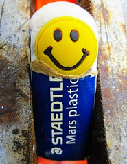 """Don't rub me out"" MM (seanwalsh4) Tags: funny laugh humour smiley rubber eraser hmm 16072018 staedtlermarsplastic happymacromondays peace love filmorpapererasing macro seanwalsh canon"