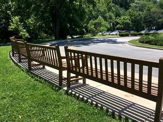 Park School ~ benches & shadows