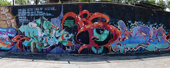 Graffiti Panorama (sharon'soutlook) Tags: graffiti panorama pano colors colorful dayton ohio outdoors 2ndstreetmarket wall text message writing