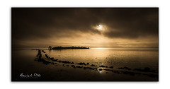 If In Doubt....Don't!! (RonnieLMills 5 Million Views. Thank You All :)) Tags: islandhill rough island sunrise cloudy skies high tide reflections stone causeway comber newtownards northern ireland moody sepia tone greatphotographers greaterphotographers greatestphotographers