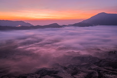 The Java Sea (Hilton Chen) Tags: tamannasionalgunungbromotenggersemeru crater landscape dawn indonesia java volcano valley mountbromo surreal sunrise layers ash foggy rim misty pumice laharplain sukapura jawatimur id