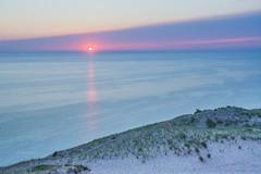 Pink and Blue . . . (Dr. Farnsworth) Tags: piercestocking scenic drive lakemichigan sunset pink blue sleepingbear mi michigan summer july2015