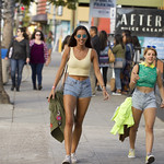 Walking down Garnet Ave in Pacific Beach thumbnail