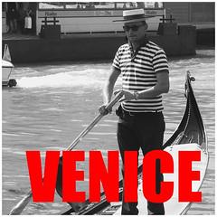 Venice Album Title Card (FotoFling Scotland) Tags: gondola gondolier album