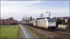 17 februari 2018 - Lineas 186 424 - Rheine (EnricoSchreurs) Tags: lineas br186 186 424 czech xpress czechexpress 40951 rheine duitsland deutschland germany trein train zug railway spoor track februari february 2018 canon eos 6d