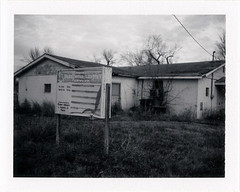 Mound City, IL (moominsean) Tags: polaroid 190 instant fuji fp3000b illinois moundcity midwest baptist church abandoned winter