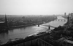 "the river ""Main"" in Frankfurt (mgheiss) Tags: frankfurtammain frankfurt main schwarzweis bw monochrom sony rx100"