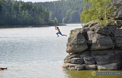 Niederösterreich Waldviertel Ottenstein_DSC0817 (reinhard_srb) Tags: niederösterreich waldviertel ottenstein stausse landschaft abkühlung sommer hitze felsen granit sprung nass wasser sport kamp camp