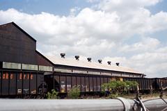 Spring Steel Sky (rpantaleo) Tags: steelmill monessen pennsylvania unitedstates film canonet kodak