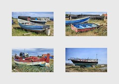 Holy Island Sad Boats (mickyman13) Tags: holyisland sadboats holyislandsadboats boats boat fishing fishingboats yacht alltypesoftransport abandoned canon cannoneos60d eos eos60d 60d 60deos seaside harbour collage