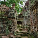 Stone carvings in the ruins of Preah Khan temple in Angkor Archeological Park near Siem Reap, Cambodia thumbnail