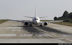 Aviolet Boeing 737-3H9 YU-ANK @ Skiathos Airport (LGSK/JSI) (Joshua_Risker) Tags: skiathos airport lgsk jsi greece aviolet boeing 737 737300 7373h9 yuank