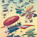Openings of the Panama Canals by John. S Pughe (1870-1909), a cartoon commentary that suggests that the age of aviation will make canals obsolete. Original from Library of Congress. Digitally enhanced by rawpixel. thumbnail