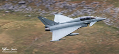 RAF Typhoon T.3 ZJ802 low level in Northern England (NDSD) Tags: low level typhoon t3 eurofighter cumbria yorkshire pennine pennines flying jet raf lake district plane aviation aircraft dales