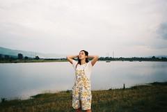 25 (albi_jana9) Tags: girl lake nature sunset