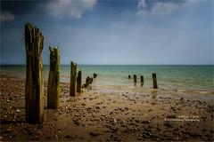 Erosion (rhfo2o - rick hathaway photography) Tags: rhfo2o canon canoneos7d atheringtonbeach elmer elmersands bognorregis westsussex beach sea seaside sky sand erosion seadefences groyne