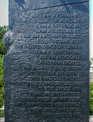 I am a follower of Atatürk (Adaptabilly) Tags: iphotoedited art ephesus sculpture atatürk sign plaque efes ephesos turkey travel lumixg1 asia