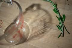 glass shadow (178/365) (severalsnakes) Tags: kansas kansascity m3528 pentax saraspaedy cuttingboard herb k1 measuringcup pyrex rosemary