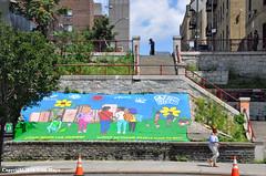 Step Street Mural (Trish Mayo) Tags: bronx mural stepstreet steps stairs art streetart