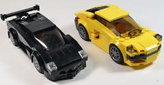 Diablo vs. Huracán (OpenBagTwo) Tags: lego car moc speed champions lamborghini huracan diablo