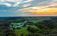 Trying to up my drone game (mbinebrink) Tags: maryland rural countryside farmland church landscape sunset clouds dji mavicair drone dronephotography aerialphotography