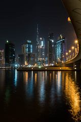 Downtown Dubai (danieleeffe1) Tags: downtown dubai burj khalifa business bay bridge water night lights reflection reflections buildings tall tallest skyscrapers skyscraper uae nikon d7100 coolpics coolpictures luci notte ponte curva palazzi grattaceli grattacelo piu alto acqua canal canale