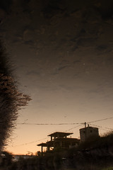 swamp reflection (tasos st) Tags: reflection reflections canon eos 500d outdoors somewhere wires tower swamp water afternoon whenthesungoesdown