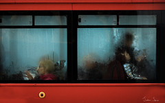 Always on the buses (Urban Frame Photography) Tags: street streetphotography red window passengers weather canon750d primelens prime 85mm canon transportation transport bus londonbus rainy rain oxfordcircus england westminster london