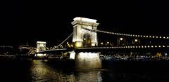 Chain Bridge - Budapest (Pavlov'sDog) Tags: budapest europe river hungary hungria bridge chain chainbridge night noche nocturno fotonocturna nightphotography széchenyichainbridge széchenyi