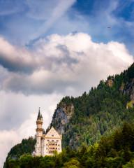 Neuschwanstein Castle   Bavaria, Germany (NicoTrinkhaus) Tags: neuschwanstein castle neuschwansteincastle bavaria germany summer bavarian schloss landmark sightseeing mountain hill alpine sky paragliding palace