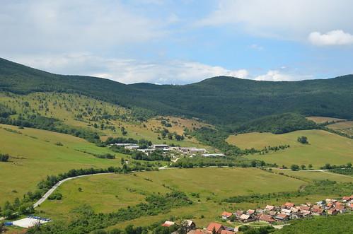 Flying over Slovak fields