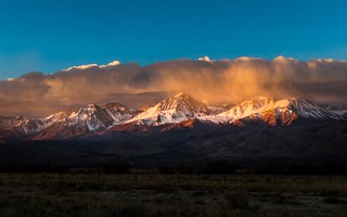 Clouds Over The Eastern Sierra Nevada Mountains