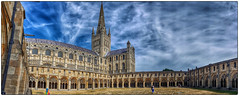Norwich cathedral panorama (Mirrorless for me) Tags: cathedral norwich cloisters