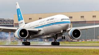 Kuwait 777 Landing At Heathrow.