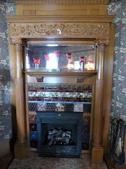 Maywood, IL, Historic House Walk, Jacob Bohlander House, 316 N. 4th Ave., Fireplace (Mary Warren 11.3+ Million Views) Tags: maywoodil housewalk architecture building house residence historic victorian fireplace