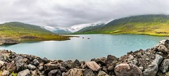 Djupidalur Iceland (Einar Schioth) Tags: djupidalur water walley river day sky summer shore sigma sigma2470 farm stillness stone stones dam canon clouds cloud coast nationalgeographic ngc nature mountains mountain landscape lake photo picture outdoor iceland ísland einarschioth