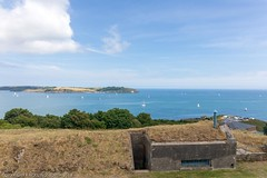 View from Pendennis Castle across to St Anthony's Lighthouse (doublejeopardy) Tags: peneddiscastle shelter stanthonys lighthouse airraid falmouth england unitedkingdom gb
