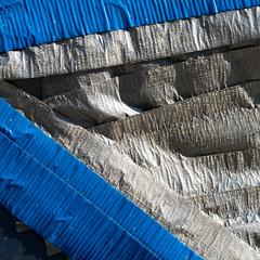 taped-up prius window (queue_queue) Tags: tape prius window car breakin weathered blue