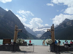 Lake Louise HFF (Mr. Happy Face - Peace :)) Tags: flickrfriday yyc fairmount lakelouise canadaparks cans2s summer rockies art2018 sky clouds flickrfriends outdoors scenery albertabound banffparkway fencefriday hff
